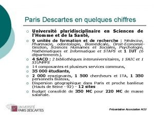 Paris Descartes en quelques chiffres Universit pluridisciplinaire en