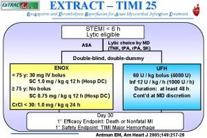 EXTRACT TIMI 25 Enoxaparin and Thrombolysis Reperfusion for