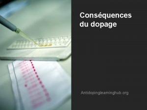 Consquences du dopage Antidopinglearninghub org Les consquences du
