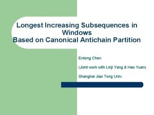 Longest Increasing Subsequences in Windows Based on Canonical