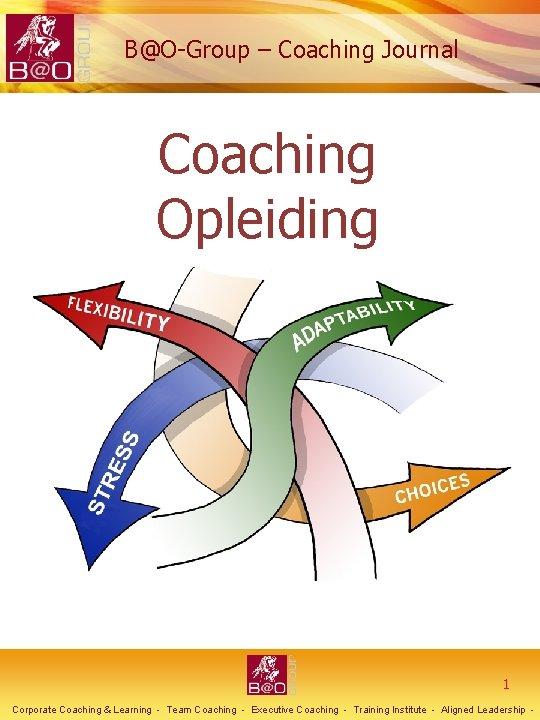 BOGroup Coaching Journal Coaching Opleiding 1 Corporate Coaching