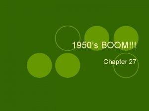 1950s BOOM Chapter 27 Post War America GI
