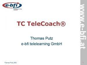 TC Tele Coach Thomas Putz ebfi telelearning Gmb