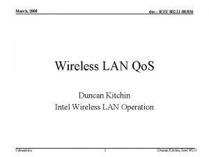 March 2000 doc IEEE 802 11 00036 Wireless