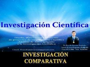 INVESTIGACIN COMPARATIVA NDICE Definicin de Investigacin Definicin de