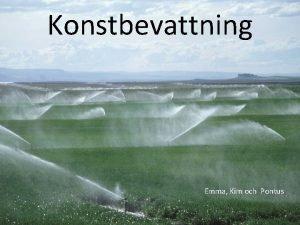 Konstbevattning Emma Kim och Pontus Vad r konstbevattning