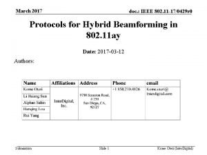 March 2017 doc IEEE 802 11 170429 r