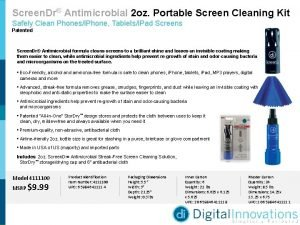 Screen Dr Antimicrobial 2 oz Portable Screen Cleaning
