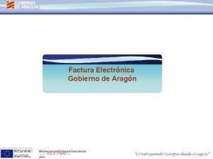 Factura Electrnica Gobierno de Aragn Medidas susceptibles de
