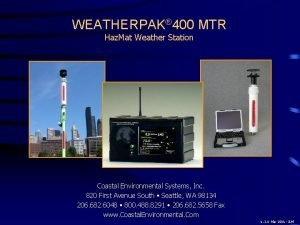 WEATHERPAK 400 MTR Haz Mat Weather Station Coastal