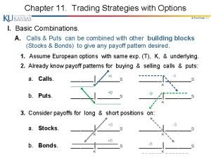 Chapter 11 Trading Strategies with Options Paul Koch