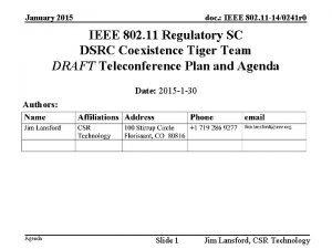 January 2015 doc IEEE 802 11 140241 r