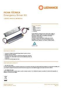 FICHA TCNICA Emergency Driver Kit LEDVANCE DRIVER DE