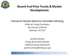 Recent Fuel Price Trends Market Developments Petroleum Market