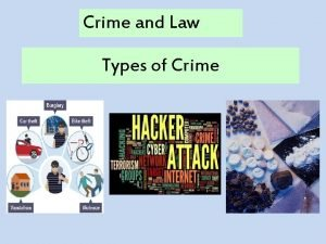 Crime and Law Types of Crime Type of