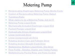 Metering Pump Reciprocating Diaphragm Metering Pump Stroke Cycle
