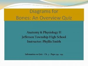 Diagrams for Bones An Overview Quiz Anatomy Physiology
