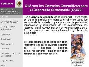 Qu son los Consejos Consultivos para el Desarrollo