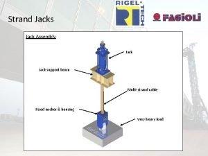 Strand Jacks Jack Assembly Jack support beam Multistrand