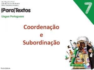 Coordenao e Subordinao Porto Editora Frase simples Porto