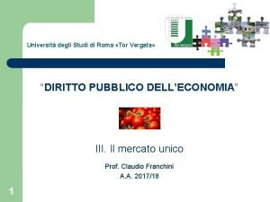 Universit degli Studi di Roma Tor Vergata DIRITTO