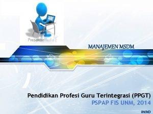 LOGO Pendidikan Profesi Guru Terintegrasi PPGT PSPAP FIS