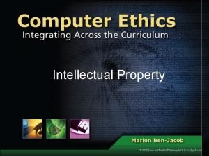 Intellectual Property Definitions Intellectual property is ownership of
