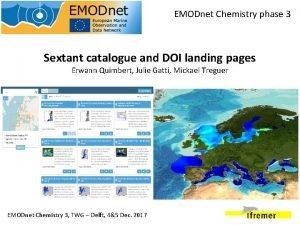 EMODnet Chemistry phase 3 Sextant catalogue and DOI