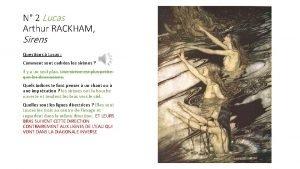 N 2 Lucas Arthur RACKHAM Sirens Questions Lucas