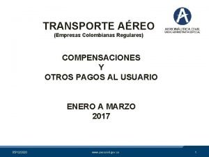 TRANSPORTE AREO Empresas Colombianas Regulares COMPENSACIONES Y OTROS