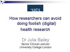 How researchers can avoid doing foolish digital health