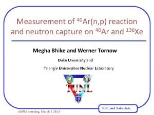 Measurement of 40 Arn p reaction and neutron