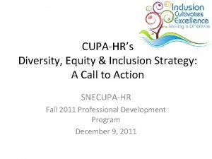 CUPAHRs Diversity Equity Inclusion Strategy A Call to