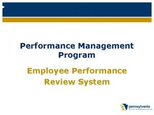 Performance Management Program Employee Performance Review System Introductions