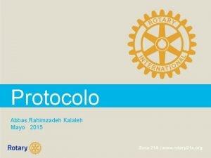 Protocolo Abbas Rahimzadeh Kalaleh Mayo 2015 PROTOCOLO Definicin