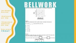 BELLWORK TN READY Review 1 Bellwork per day
