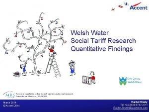 Welsh Water Social Tariff Research Quantitative Findings Accent