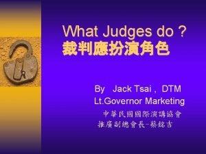 Chief Judge Contest Judges Tie Breaking Judge Chief