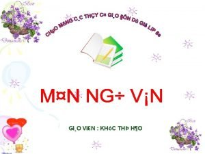 GIO VIN KHC TH HO Nguyn Khc Vin