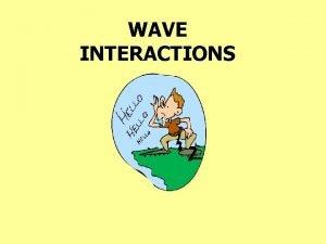 WAVE INTERACTIONS Longitudinal Wave wave particles vibrate back