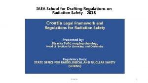 IAEA School for Drafting Regulations on Radiation Safety