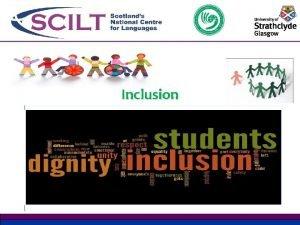 Inclusion Equality and Inclusion Equality and inclusion has
