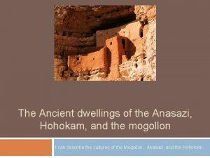 The Ancient dwellings of the Anasazi Hohokam and