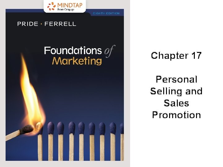 Chapter 17 Personal Selling and Sales Promotion 2019