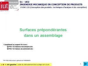 S 1 UE 2 INGENERIE MECANIQUE EN CONCEPTION