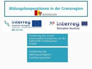 Bildungskooperationen in der Grenzregion Frderung der sozialemotionalen Kompetenz