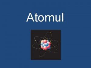 Atomul Etape ale teoriei atomiste Sec V Hr