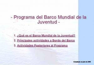 Programa del Barco Mundial de la Juventud 1