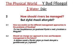 The Physical World Y Byd Ffisegol 1 Water