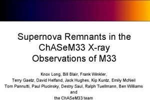 Supernova Remnants in the Ch ASe M 33
